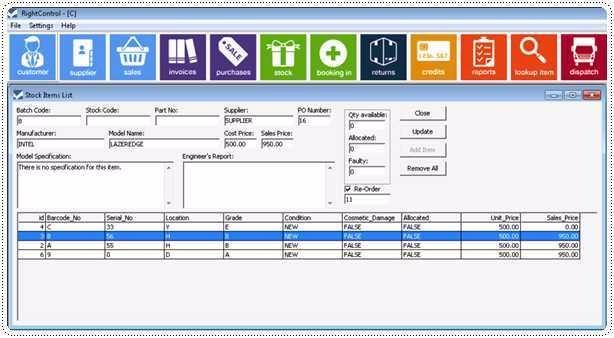 Software gratis de inventario