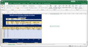 Plantilla en Excel de horas semanales de trabajo